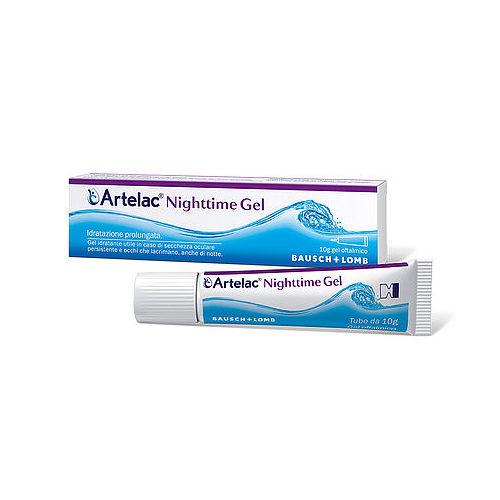 Artelac® Nighttime Gel è un prodotto adatto per fornire un sollievo prolungato dai sintomi dell'occhio secco causati da disfunzione lacrimale cronica. Quando gli occhi secchi e irritati hanno bisogno di un'elevata protezione e sollievo o di un supporto notturno. Utile per lenire e inumidire gli occhi molto secchi o in casi di occhi con eccessiva lacrimazione, Artelac® Nighttime Gel fornisce supporto ai tre strati del film lacrimale, compreso quello più esterno lipidico. I suoi componenti aiutano a rinforzare e a supportare il film lacrimale, rimanendo a lungo sulla superficie oculare e contribuendo a trattenere l'idratazione. Per un occhio secco da aumentata evaporazione di lacrime, alterazione del film lacrimale o infiammazione delle palpebre. In caso di frequenza medio-alta dei sintomi o di malattie croniche.