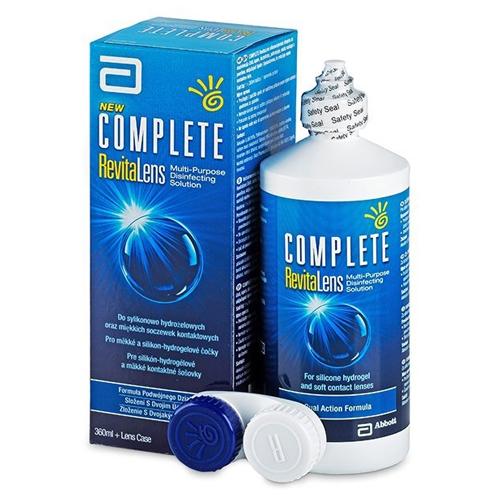 Complete RevitaLens 360ml è una soluzione unica per tutti i tipi di lenti a contatto morbide.