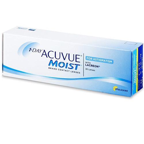 Le 1 Day Acuvue Moist for Astigmatism, confezione da 30, sono tra le lenti a contatto più confortevoli sul mercato per coloro che soffrono di astigmatismo