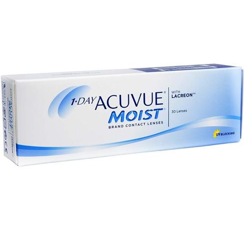 Le 1 Day Acuvue Moist, confezione da 30, sono lenti a contatto morbide giornaliere distribuite da Johnson & Johnson che correggono miopia e ipermetropia