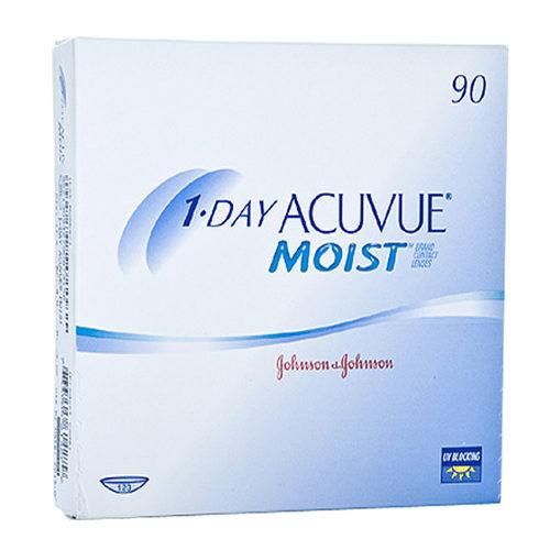 Le 1 Day Acuvue Moist, confezione da 90, sono lenti a contatto morbide giornaliere distribuite da Johnson & Johnson che correggono miopia e ipermetropia