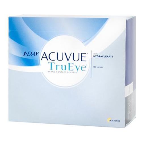 Le 1 Day Acuvue TruEye, confezione da 180, sono lenti a contatto giornaliere in Silicone Idrogel che rispondono a tutti i requisiti che vengono richiesti ad una lente di ultimissima generazione. Le lac TruEye permettono uno straordinario apporto di ossigeno unito a un efficente filtro UV.