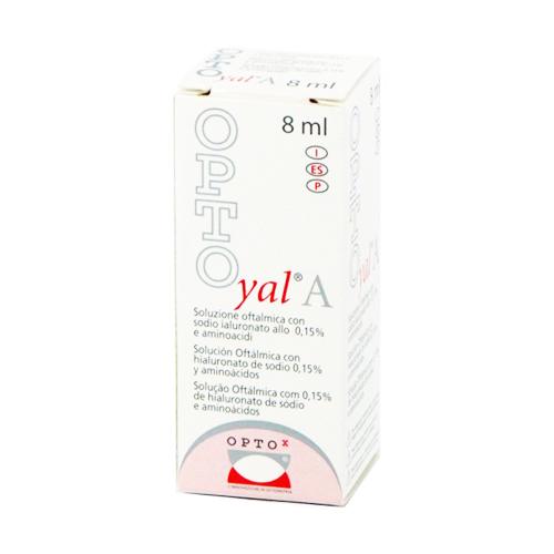 Opto Yal è una soluzione oftalmica sterile a base di Sodio Ialuronato allo 0,15% e Aminoacidi indicata come integratore dello strato mucinico del film lacrimale, nel trattamento della secchezza oculare moderata per idratare, lubrificare e proteggere la superficie oculare.