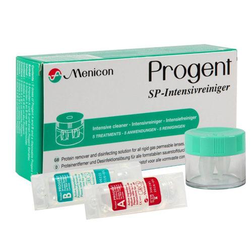 Progent Menicon è una soluzione per la rimozione delle proteine e la disinfezione per tutte le lenti a contatto solo rigide e rigide gas permeabili.