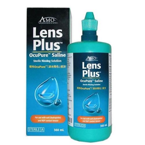 Salina Lens Plus è una soluzione salina per il risciacquo facile di qualsiasi tipo di lente a contatto (morbida o rigida/gas permeabile). È prodotta dalla Abbott Medical Optics, leader mondiale nella produzione di soluzioni per la cura delle lenti a contatto.