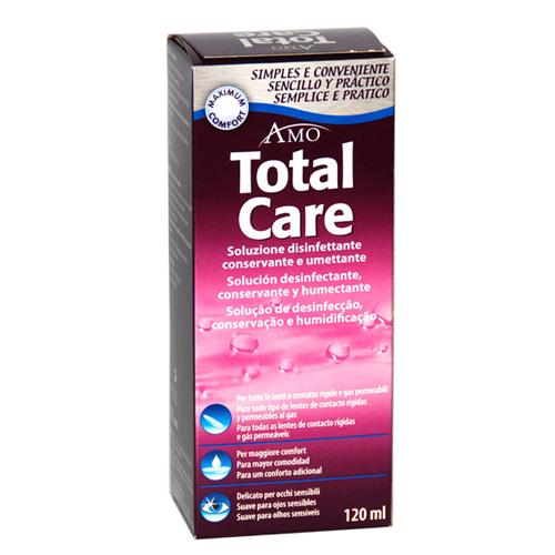 Total Care Conservante è una soluzione disinfettante, conservante ed umettante, ideale per tutte le lenti a contatto rigide e gas permeabili.